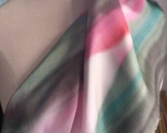 Hand-painted silk handkerchief. Exclusive Gift