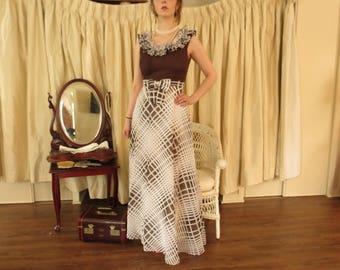 Fabulous 1970s Dress with Empire Waist