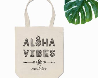 Aloha Vibes Canvas Tote Bag
