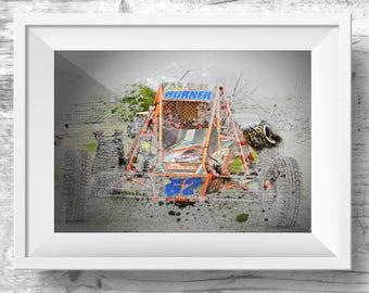 Car art, Autograss Wall Art, Grass Tracker, Gift For Him, Automotive Art, Home Decor, Digital Art, Instant Download, Auto-grass Art,