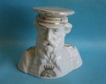 Vintage Crested China Bust of General Booth 'THE SALVATION ARMY'