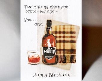 Birthday Whisky Bottle Card WWBI139