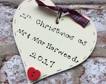 Our first Christmas married decoration | First Christmas as Mr and Mrs | 1st Christmas married decoration | married couples decoration