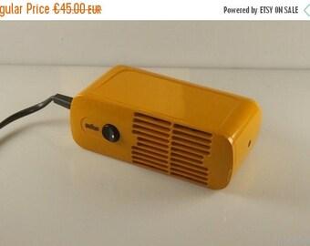 HUGE SALE 25% Braun Dieter Rams, 1970 HLD 4 Blow dryer, yellow/orange