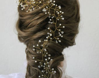Bridal Crystal wreath prom hair accessories hair wreath Crystal Headband hair piece wedding hair piece bridal hair vine wedding wreath