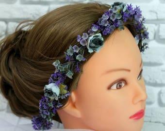 Fairytale Gift Wedding wreath flower wreath bridal shower wedding hairpiece wedding flower clip flower wedding clip bridal shower wreath