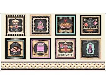 "Home Sweet Home, Baking,Kitchen,on cream, Q.T. 24x45"" panel"