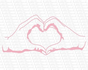 Couple Hand Love Heart Svg Clip art, Ai vector by SpeecchBubble