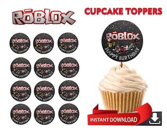 Roblox Cupcake Topper, Theme Cupcake Topper, Roblox Birthday Cupcake Topper, Party Cupcake Topper, Custom Cupcake Topper, Roblox