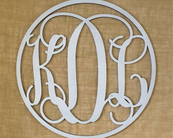 Monogram wall decor | Etsy