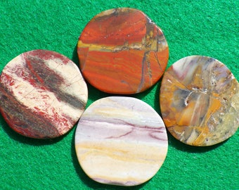 Assorted Jasper set of four golf ball markers