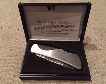 Vintage Vernco Black Angus Pocket Knife in Orginal Box