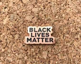 Black Lives Matter Lapel Pin - COPPER