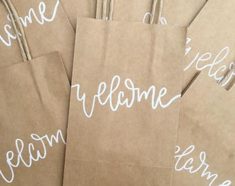 Customizable Handlettered Favor Bags