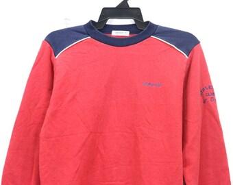 Vintage Adidas Athelete Sweatshirt Minimal Logo Sportswear Street wear Crew Neck Pullover Sweater Jumper Size Medium