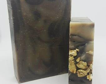 Oatmeal, Milk, & Honey Soap- Oatmeal Soap, Milk Soap, Honey Soap, Exfoliating Soap, Natural Soap, Handmade Soap, Scented Cold Process Soap