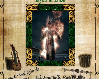 The Burning of King Olaf Festival - Letter and Poster