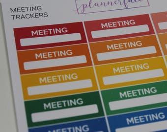 Meeting Trackers | Multicolour Rainbow Functional Stickers for Erin Condren (M035)