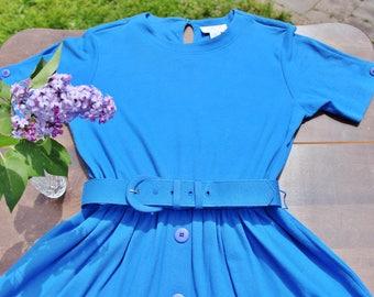 90s Blue Dress