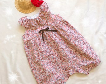 """Baby girl with frill collar romper """"Rosalie"""""""