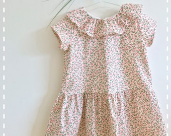 """Baby/toddler dress size low """"mademoiselle rose"""""""
