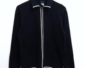 RARE!!! Beams Japanese Plain Dark Blue Colour Zipper Sweaters Hip Hop Swag M Size