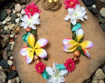 Tropical, Moana, Beach, Tiki  Flower Crown/Headband