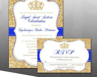 100 pcs Royal celebration/Princess Invitation w/Envelopes PRINTED
