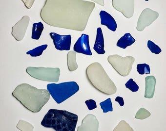 Sea Glass Mix Blue & Clear