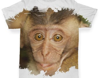 Capuchin Monkey Baby Toddler Funny ALL-OVER PRINT Baby T-shirt