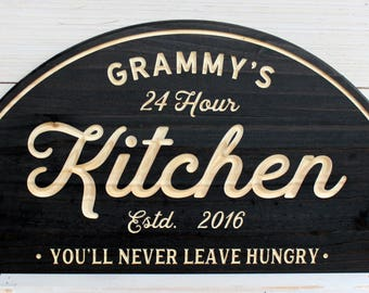 Kitchen Signs, Kitchen, Personalized Custom Signs, Kitchen Decor, Farmhouse  Signs