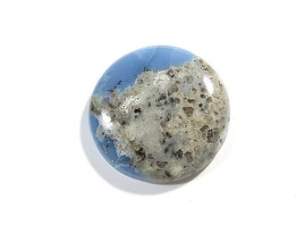 34Cts Australian Blue Opal Cabochon Loose Gemstones Round Shape Gorgeous Top Quality Natural Blue Opal For Jewelry Making 28X28X6mm