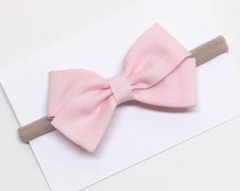 Baby Hair Bows - Pink - Hair Bows - Headband or Clip