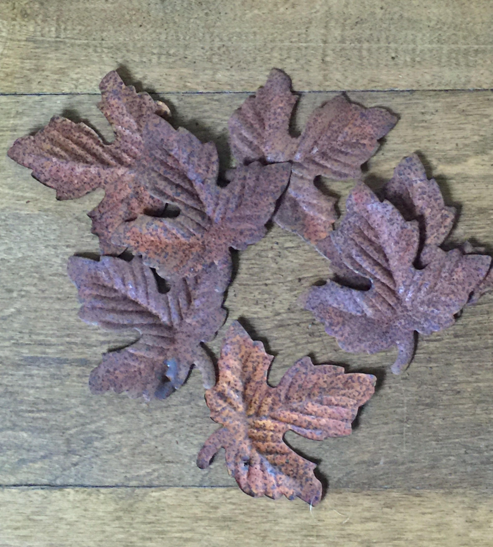 Rusty tin craft supplies - Rusty Metal Leaves Rusty Leaves Craft Supply 47 Rusty Metal Leaves