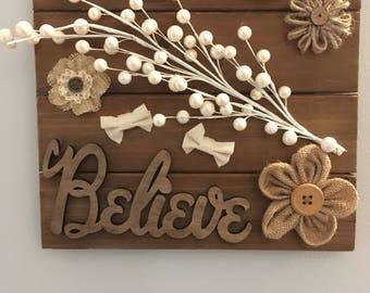 "Wood ""I believe "" mosiac"