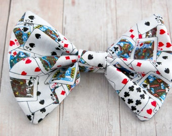 Playing Cards Bow // Deck of Cards, Poker, Ace, Texas Hold Em