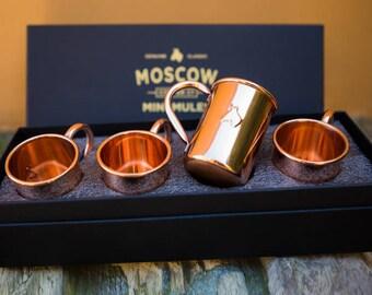 Mini Mules 2 Oz Original Copper Mugs (4-Pack)