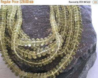 Exclusive Quality Lemon Quartz Micro faceted Roundell 5 - 6 mm approx , 14 inch strand