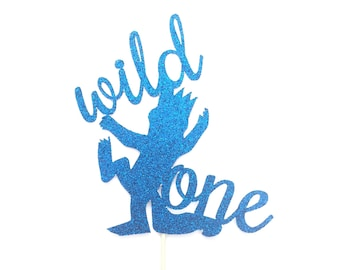 Wild One Max Glitter Cake Topper, Wild One Birthday, Wild One Tribal Party, First Birthday Cake Topper, Where the Wild Things Are, Max