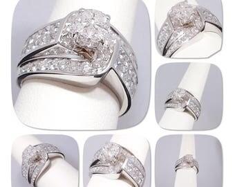 Diamond Engagement/Wedding Ring w/ 2.70 Carats of Natural Diamond