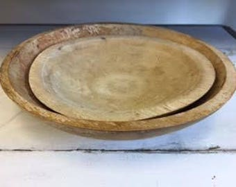 vintage wood bowls