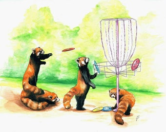 Red Pandas and Disk Golf