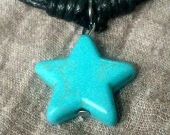 Bracelet turquoise étoile