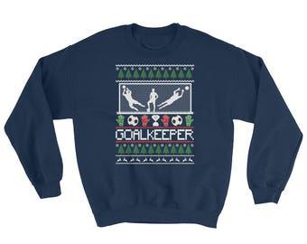 Ugly Christmas Goal Keeper Sweater Soccer Goalie Gift