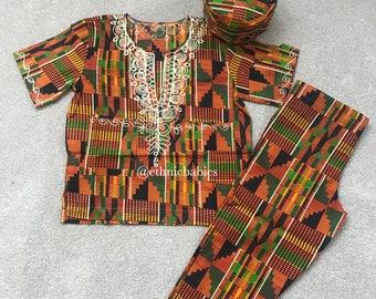 Ready to ship Boy ankara/boy 3 piece//African babyboy clothes/baby set/Newborn clothes/African clothing/Dashiki/baby african wear/african sh
