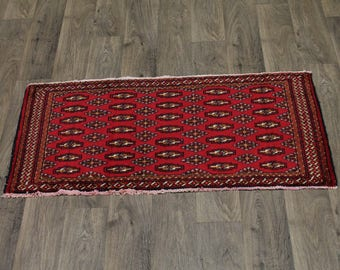 Gorgeous Small Entrance Handmade Turkoman Persian Rug Oriental Area Carpet 2X4