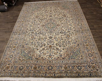 Charming Design Handmade Light Kashan Persian Rug Oriental Area Carpet 10X14