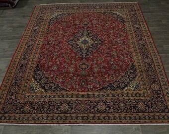 Delightful S Antique Handmade Red Kashan Persian Rug Oriental Area Carpet 10X12