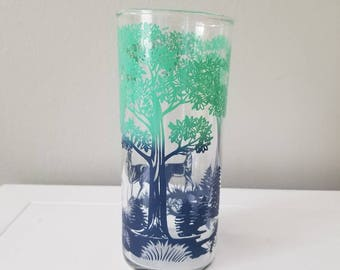 FREE SHIPPING! Vintage drinking glass