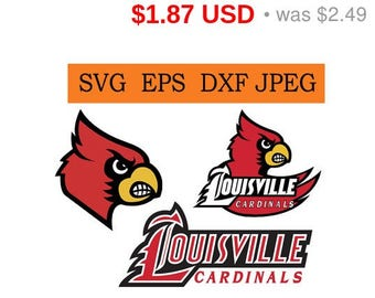 Sale 25%  -  Louisville Cardinals logo in SVG / Eps / Dxf / Jpg files INSTANT DOWNLOAD!